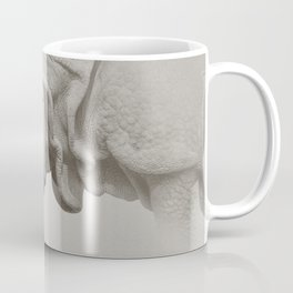 Rhino Photography | Warm Grey | Animals Coffee Mug