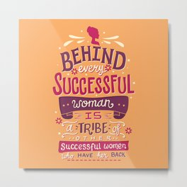 Successful women Metal Print