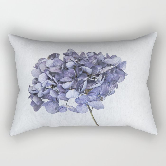 Dried Blue Hydrangea Rectangular Pillow