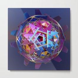 Colorful metallic orb Metal Print
