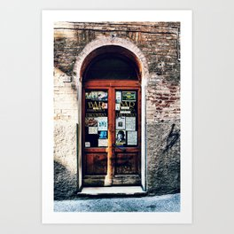Abandoned Shop in Siena Art Print