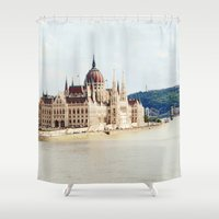 budapest Shower Curtains featuring Budapest by Christina Annbel