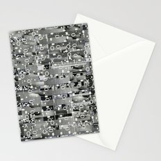 Knowing Wink (P/D3 Glitch Collage Studies) Stationery Cards