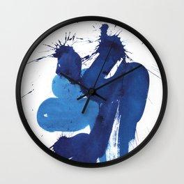 "seria ""BLUE""  title № 2 Wall Clock"