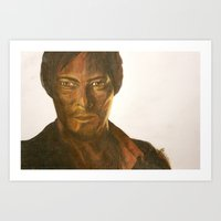 daryl Art Prints featuring Daryl by Arch & Aya