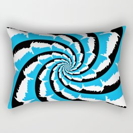 Psychedelic Fractal Rectangular Pillow