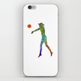 Woman beach volley ball player 02 in watercolor iPhone Skin