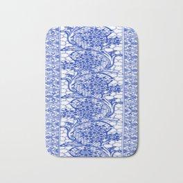 Sapphire Blue Lace Bath Mat