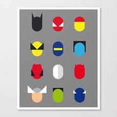 Famous Capsules - Superheroes Canvas Print