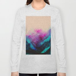 Dark Road Pink Hill Teal Valley Long Sleeve T-shirt