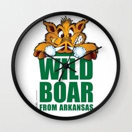 Wild Boar from Arkansas! Wall Clock