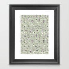 Witchcraft Pattern Framed Art Print