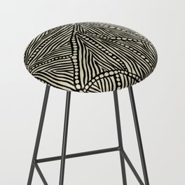 Black and Ivory Triangles Bar Stool