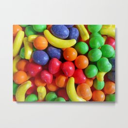 Colorful Fruit Shaped Candy Metal Print