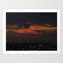 A Sky On Fire Art Print