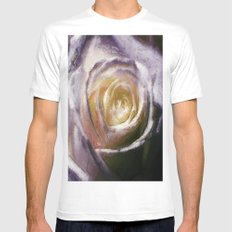 Abstract Rose Mens Fitted Tee White SMALL