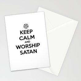 Keep Calm and Worship Satan Stationery Cards