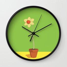 Daffodil Pot Wall Clock