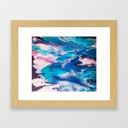Turuoise Flow Framed Art Print