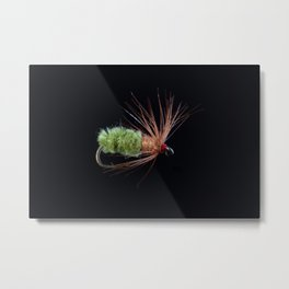 Green Caddis Nymph Trout Fly Metal Print