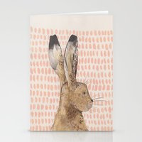 hare Stationery Cards featuring Hare by stephanie cole DESIGN