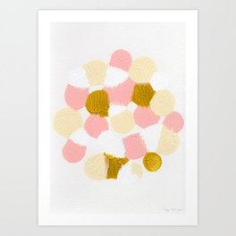 Pink Abstract painting Art Print