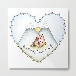 Love Tent Metal Print