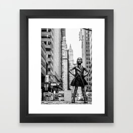 Fearless Girl New York City Framed Art Print