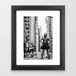 Fearless Girl New York City Framed Art Print