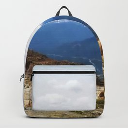 Many layers of a mountain view Backpack