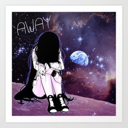 Gone away girl Art Print