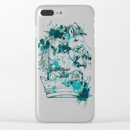 Crown Horse KINGDOM Clear iPhone Case