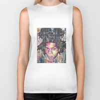 basquiat Biker Tanks featuring Basquiat by Makelismos