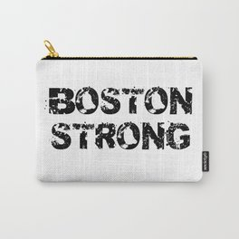 Support BOSTON STRONG Black Grunge Carry-All Pouch
