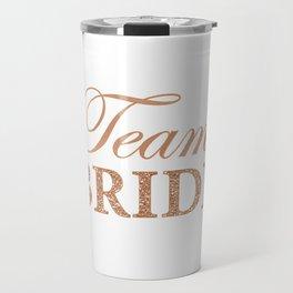 Team Bride Caption for Hen Party Travel Mug