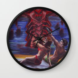Invasion of the Lobster Men Wall Clock