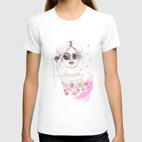 cherry blossoms T-shirts featuring Cherry Blossoms by Ashlee Spink Illustration