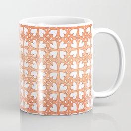 Living Coral Hearts Pattern Coffee Mug