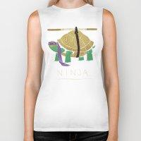 ninja turtle Biker Tanks featuring ninja - purple by Louis Roskosch