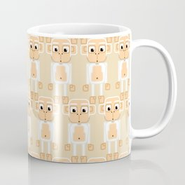 Super cute animals - Cheeky White Monkey Coffee Mug