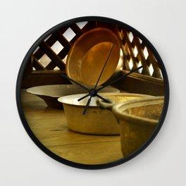 old copper pot Wall Clock