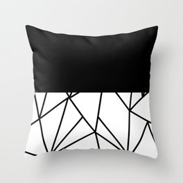 ART DECO DESIGN (BLACK-WHITE) Throw Pillow