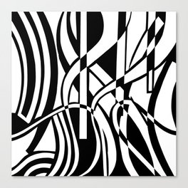 smoothed confusion Canvas Print