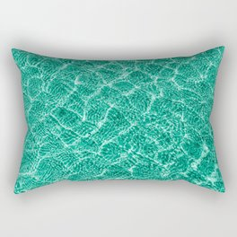 blue green clear water with shadows of small waves. pool. lagoon. poster of  pastel color. Rectangular Pillow