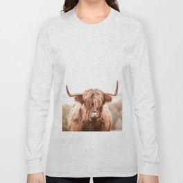 Highland Cow in a Field Southern Long Sleeve T-shirt