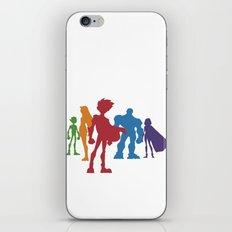 [ Teen Titans ] Robin, Starfire, Raven, Beast Boy and Cyborg iPhone Skin