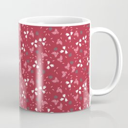 Deep red floral bandana print Coffee Mug