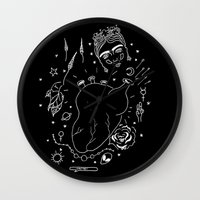 cactei Wall Clocks featuring Cactei (Inverted) by ☿ cactei ☿