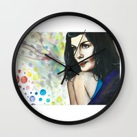 amelie Wall Clocks featuring Amelie by Jessis Kunstpunkt.