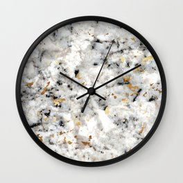 Classic Marble with Gold Specks Wall Clock